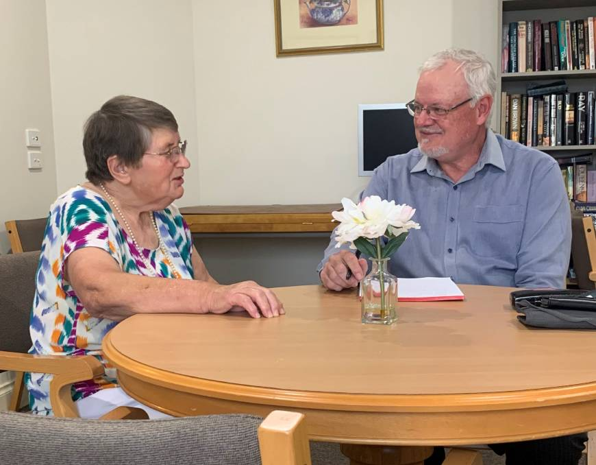 WONDERFUL JOURNEY: Wilma Trabant and Ron Asquith chat about their association with Lutheran Aged Care spanning 45 years in total.