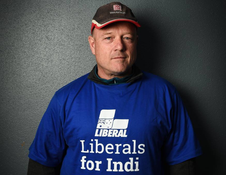 BLUE THROUGH AND THROUGH: Greg Mirabella said he was prepared to donate money to the Liberals because he believed in wife Sophie.