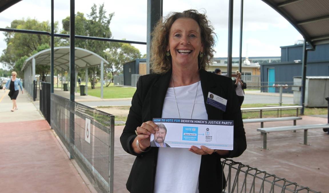NEARLY THERE: Tania Maxwell was out campaigning in Wangaratta on Saturday. Picture: SHANA MORGAN