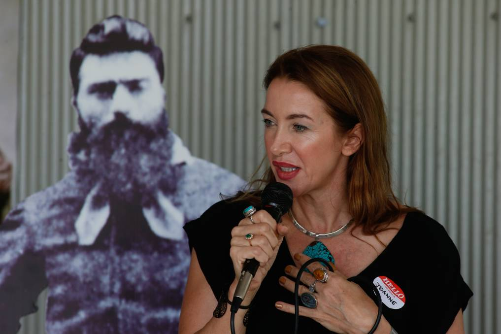 GRAND IDEAS: Joanne Griffiths, a descendant of Ned Kelly, wants Wangaratta Council to support the proposed Ned Kelly Centre to open in 2020.