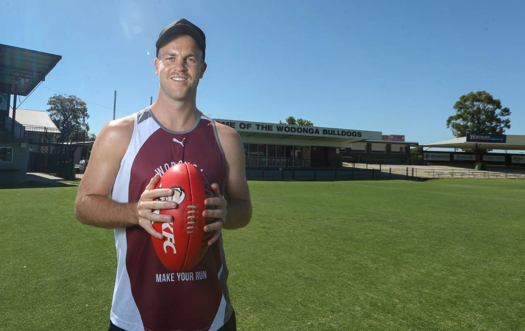 WELCOME: New Wodonga coach Jordan Taylor has arrived at John Flower Oval for the 2021 season. Picture: TARA TREWHELLA