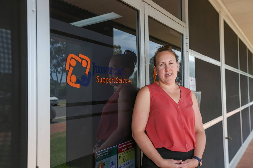 DEMAND RISING: Michelle Fell, client services manager at Junction Support Services, Wodonga says COVID-19 has 'brought a whole other lens' to the housing crisis. Picture: TARA TREWHELLA
