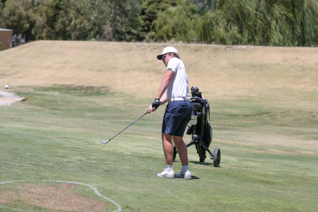 TOP EFFORT: Yarrawonga Mulwala's Baxter Droop was the only amateur to shoot under par in the Gen Z tournament, firing 69 in the difficult conditions. Picture: TARA TREWHELLA