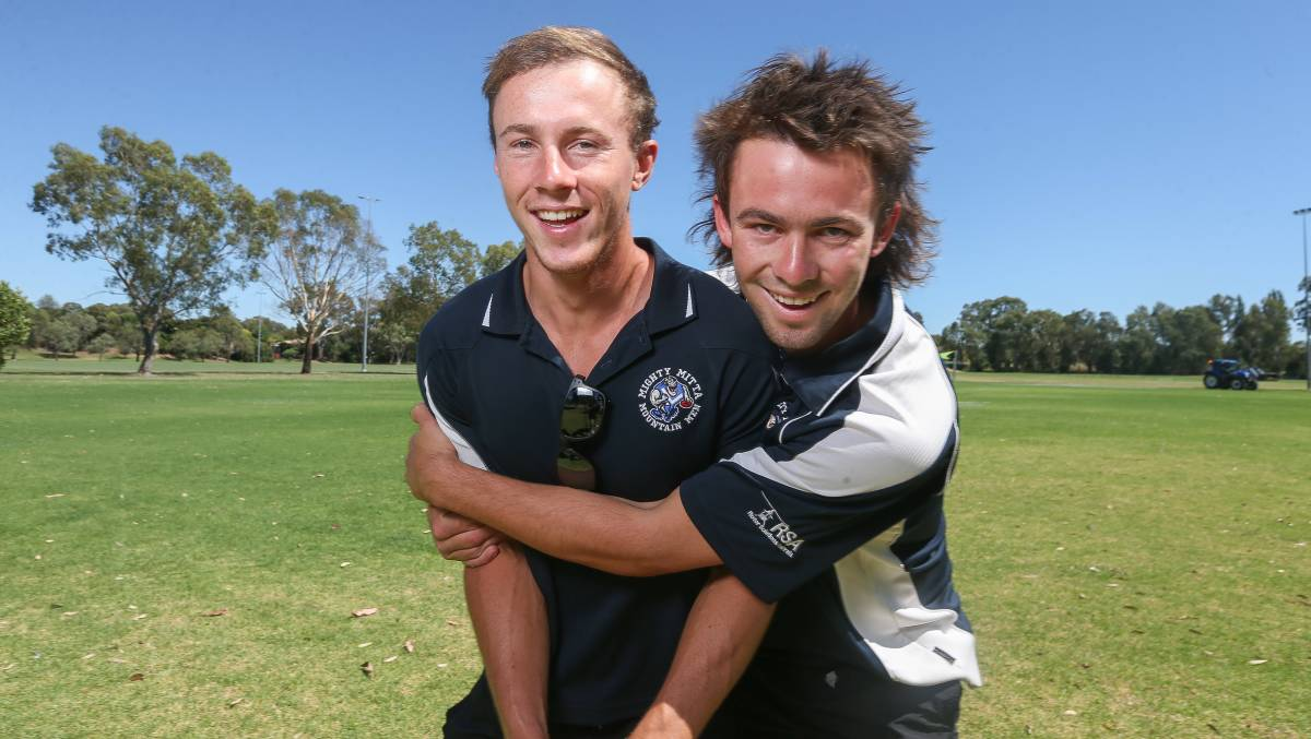 BLUES BROTHERS: Brothers William and Henry Teunon will be reunited at Mitta this season and will add further depth. Picture: TARA TREWHELLA