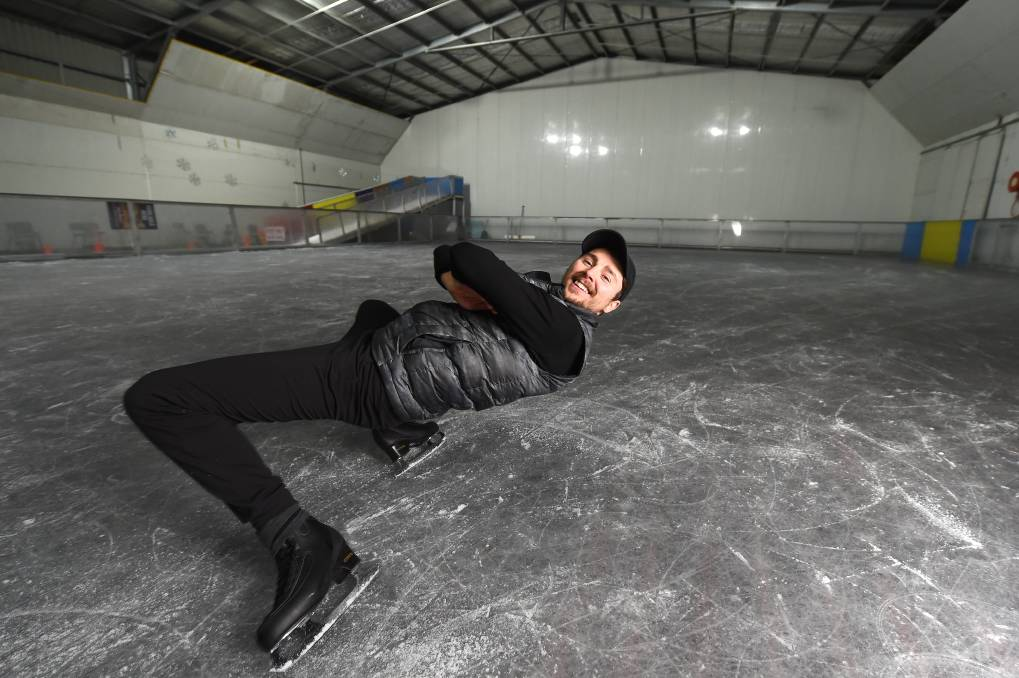 HAVE AN ICE DAY: Russian-born figure skater Roman Khitiaev is the new manager of Wodonga Ice Skating Rink after starring in a variety of shows around the world. Picture: MARK JESSER
