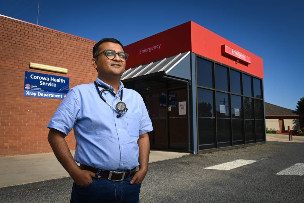 PRESSING: Ayon Guha owns the Corowa Medical Centre, which has GPs act as visiting medical officers in the local emergency department. Dr Guha says the need for more medicos regionally is a constant. Picture: MARK JESSER