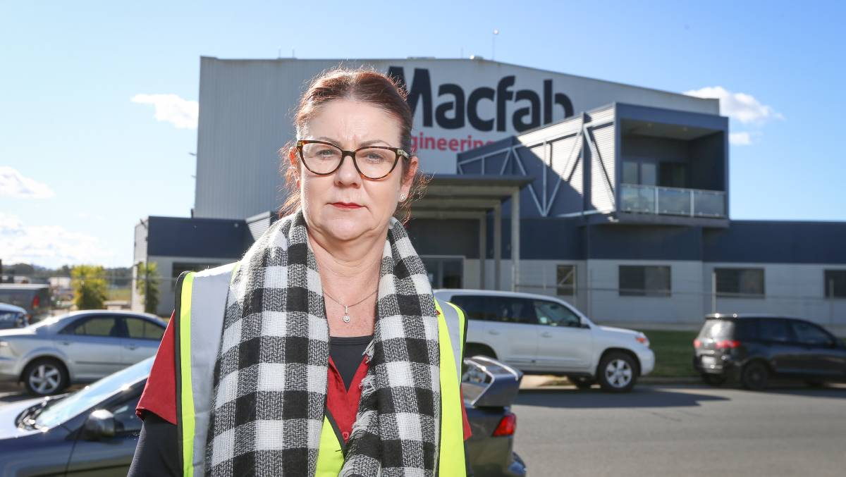 BREAKING POINT: Macfab Engineering corporate secretary Michelle Clarke says her business is reeling from revised NSW border permit conditions released on Monday. Picture: JAMES WILTSHIRE