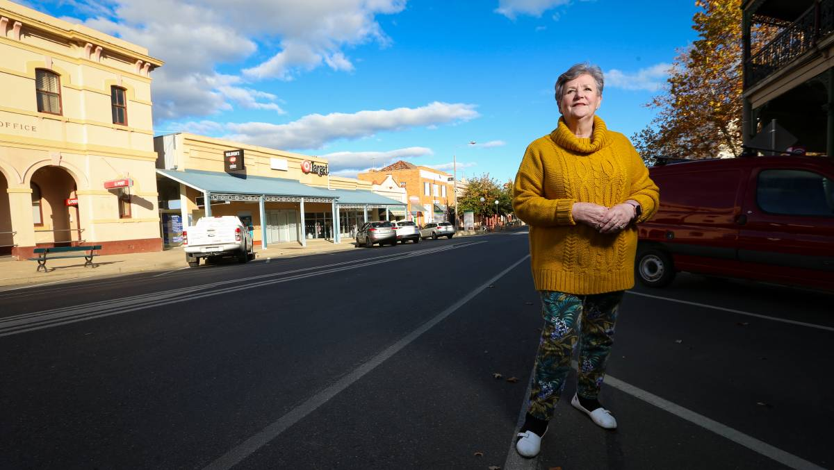 CLOSURE IN SIGHT: Federation councillor Gail Law in front of the Corowa Target that will close in April. She was critical of the announcement made by Wesfarmers last year. Picture: JAMES WILTSHIRE
