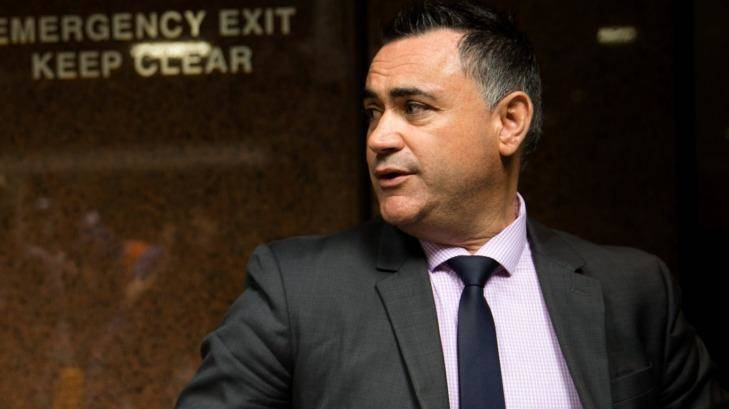 NSW Deputy Premier John Barilaro after a press conference where Premier Mike Baird announced his resignation in Sydney. 19th January 2017 Photo: Janie Barrett Photo: Janie Barrett