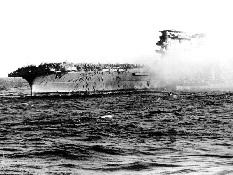 No Australians were killed, but more than 650 Americans died when the USS Lexington was sunk.