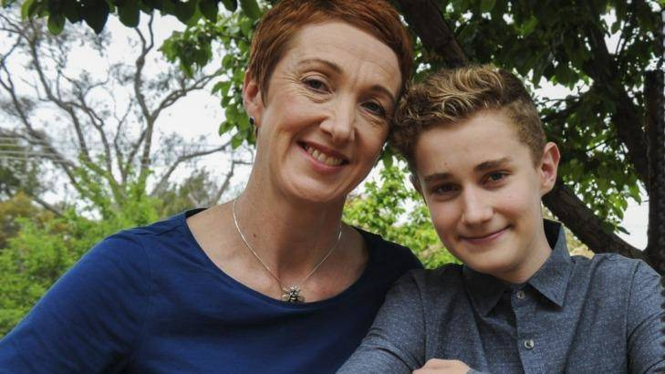 Co-founder of Missing School Megan Gilmour and her son Darcy. Photo: Graham Tidy