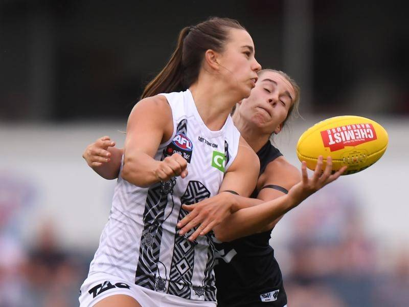 Chloe Molloy (l) has been a star turn during Collingwood's unbeaten start in the AFLW
