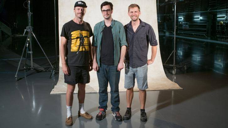 Kirk Docker, Nick McDougall, Aaron Smith present <i>You Can't Ask That</i>. Photo: ABC