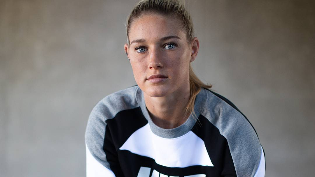 COURAGE: Star athlete Tayla Harris has been named among 17 nominees for Victoria's 2021 Australian of the Year Awards. Picture supplied by australianoftheyear.org.au