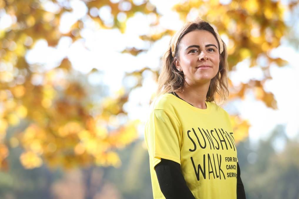 COMMUNITY ACTION: Lavington's Bobbi Garland threw herself into raising money for the Albury Wodonga Regional Cancer Centre after receiving treatment at the East Albury facility. Picture: JAMES WILTSHIRE