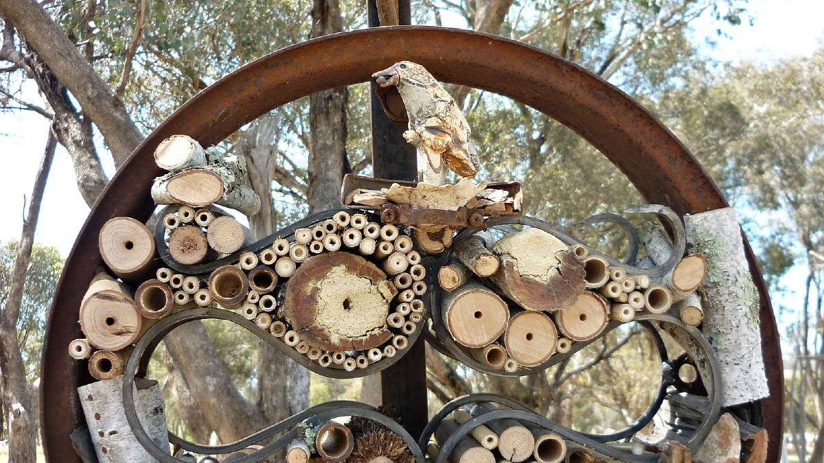 The Life Bee Inn It sculpture crafted by Albury mother Joanne Diver, which will appear at the Chelsea Flower Show.